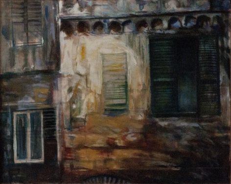 """""""Luce sul Palazzo""""tecnica mista su tela 70 x 90 cm anno 1998"""
