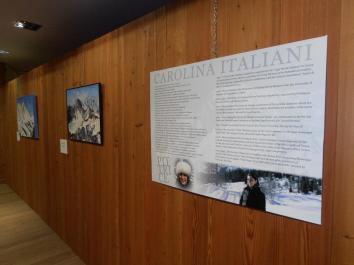 "Allestimento Mostra ""Snoweek""Museo Transfrontaliero -Courmayeur."