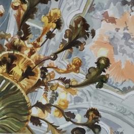 """""""Sotto al Tiepolo Acquerello su carta fabriano 40 x 40 cm 2017"""