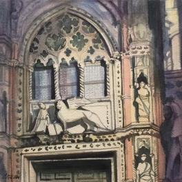 """""""La Porta della Carta""""Acquerello su carta Fabriano 40 x 40 cm 2017"""