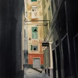 """Vico Valoria"" Acquerello 30 x 30 cm ,2018"